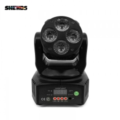 Mini LED Moving Head 4x18W RGBWA+UV Lighting