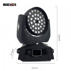 LED Wash Zoom 36x12W RGBW Moving Head Lighting