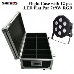 Flight Case with 6/8/10/12/16 pieces LED Flat Par 7x3W RGB Lighting Business Lights with Professional for Party Disco DJ New Stage Light