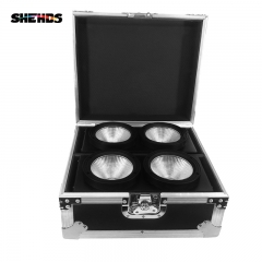 Novelties Flight Case 2in1 Packing with 2pcs LED COB 2eye 2x100W Flood Stage Lighting DMX Stage Wash Audience Lights SHEHDS