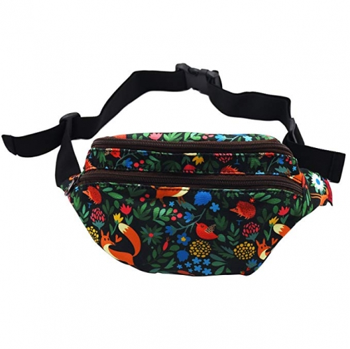 Fox Gift Bags Forest Fanny Pack Hip Waist Bum Belt Hip Pouch Bags