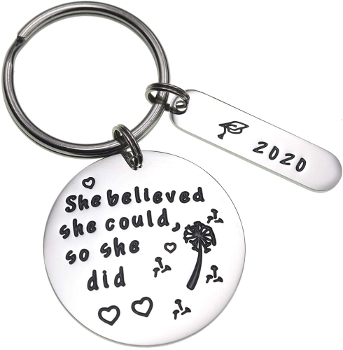 LParkin Graduation Gifts for Her 2020 She Believed She Could Graduation Gift for Her Inspiration Quote Dandelion Wishes