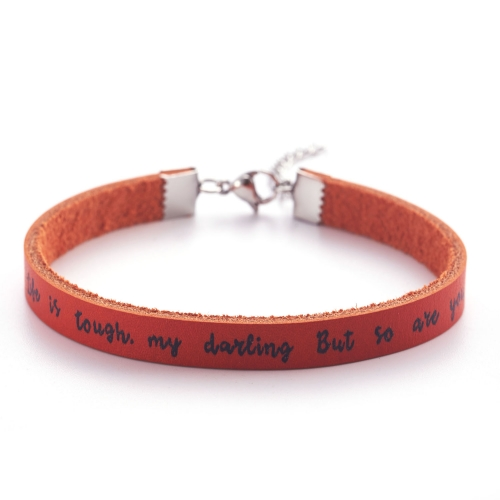 LPARKIN leather bracelet life is tough but so are you for women motivational gifts for women inspirational gifts for women best friend birthday gifts