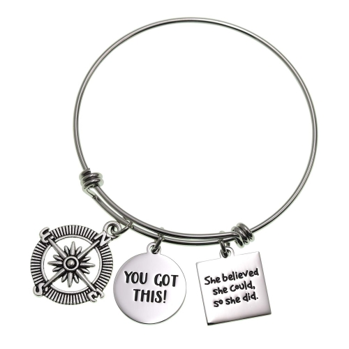 LParkin 2020 Graduation Gift You Got This Bracelet She Believed She Could So She Did Inspirational Jewelry Motivational Gifts Cancer Survivor Gift Get