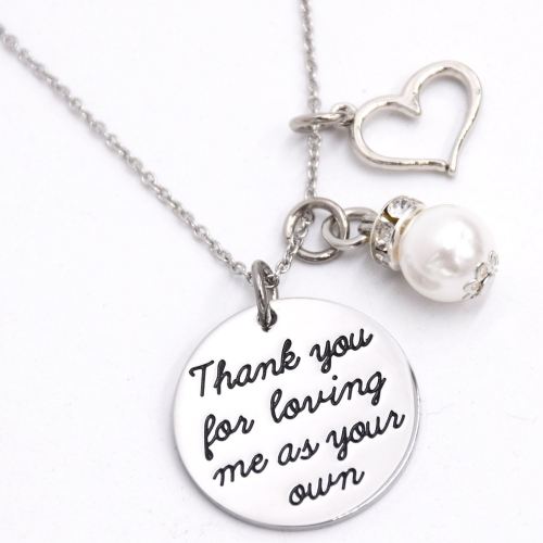 LParkin Thank You for Loving Me As Your Own Necklace Adoption Jewelry Gifts Ideas