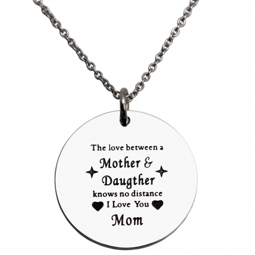 LParkin Mothers Necklace The Love Between A Mother & Daughter Knows No Distance Necklace I Love You Mom Necklaces