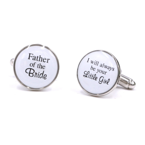 WED-BRI0008 The perfect gift for the father of the bride Father of the Bride Cufflinks I will always be your little girl