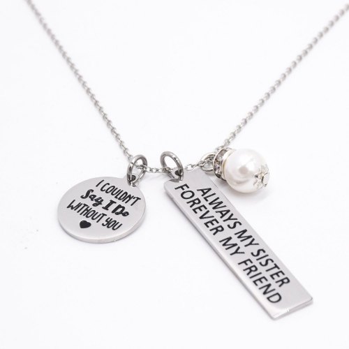 LParkin I Couldn't Say I Do Without You Always My Sister Forever My Friend Sister Necklace