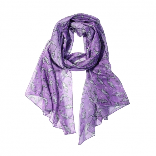 Narwhal Women Scarves Lightweight Shawl Head Wraps