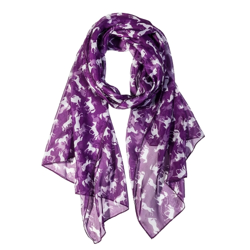 White Horse Women Scarves Lightweight Shawl Head Wraps