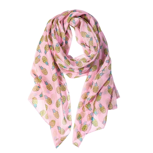 Pineapple Women Scarves Lightweight Shawl Head Wraps