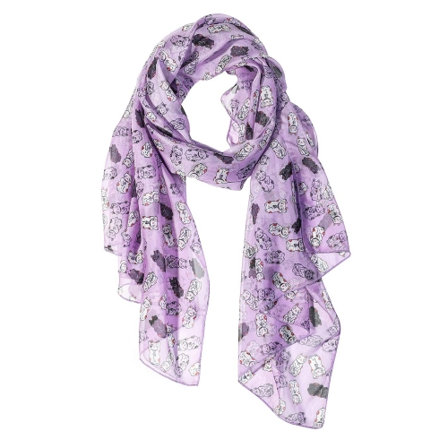 Luck Cat Women Scarves Lightweight Shawl Head Wraps