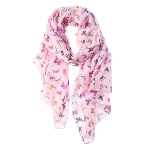Colorful Butterfly Women Scarves Lightweight Shawl Head Wraps