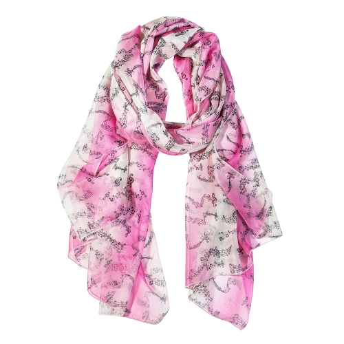 music Women Scarves Lightweight Shawl Head Wraps