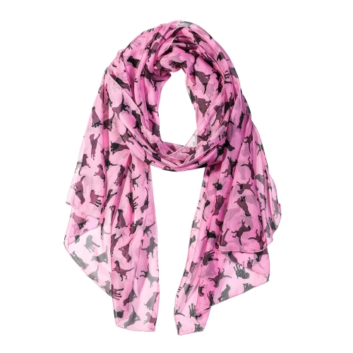 Black Dog Women Scarves Lightweight Shawl Head Wraps