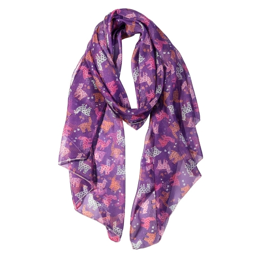 Llama Women Scarves Lightweight Shawl Head Wraps