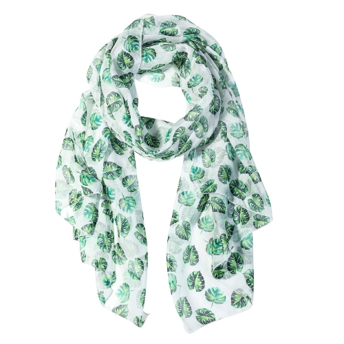 Tropical Leaves Women Scarves Lightweight Shawl Head Wraps