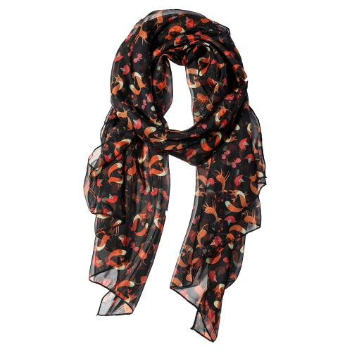 Fox Women Scarves Lightweight Shawl Head Wraps