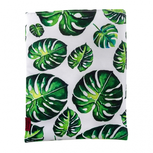 LParkin Tropical Leaves Book Sleeve Leaves Book Protector 10 Inch X 8 Inch Canvas Book Sleeves Teen Gifts