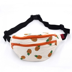 Fanny Pack Pineapple Hip Bag Waist Bag Canvas Bum Belt Hip Pouch Bags Purses Festival