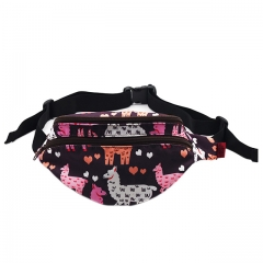 Llama Gifts Bags Fanny Pack Hip Waist Canvas Bum Belt Hip Pouch Bags Women Girls
