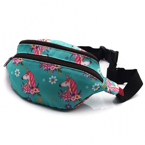 Unicorn Bag Gift Fanny Pack Hip Bag Waist Bag Canvas Bum Belt Hip Pouch Bags