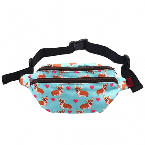 Corgi Dog Gifts Fanny Pack Hip Bag Waist Bag Canvas Bum Belt Hip Pouch Bags