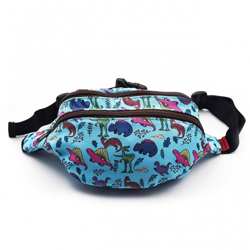 Dinosaur Bag Gift Fanny Pack Hip Bag Waist Bag Canvas Bum Belt Hip Pouch Bags