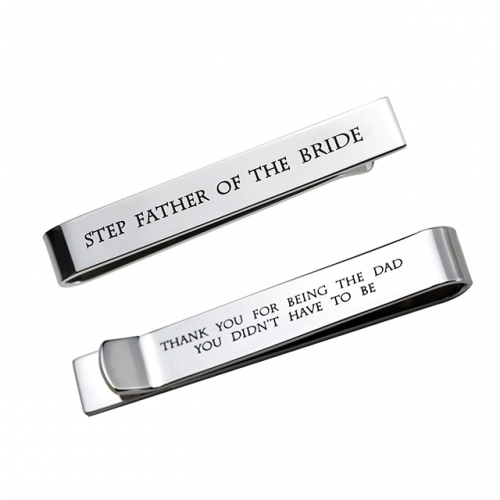 LParkin Father of The Bride Gifts Gifts Wedding Tie Clips Gifts for Groomsmen from The Bride Stainless Steel Tie Bars