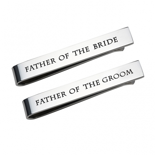 LParkin Father of The Groom Gifts Father of The Bride Gifts Wedding Tie Clips Gifts for Groomsmen from The Bride Stainless Steel Tie Bars