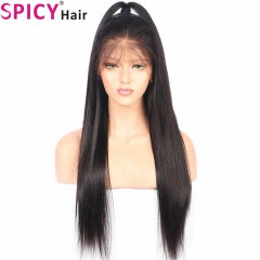 200% density  Silky straight 360 lace wig