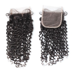 Spicyhair Tangle free 10A Selling Directly From Factory kinkycurly 4×4 lace closure