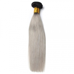 Spicyhair 100% Tangle Free 1b/grey Straight Bundles