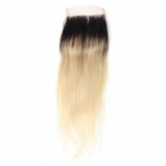 Spicyhair 100% No Shedding 1b/613 Silky Straight Closure
