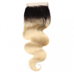 Spicyhair 100% No Tangle 1b/613 Bodywave Closure