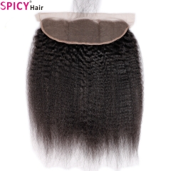 Spicyhair 100% DHL Free Shipping  No Shedding Kinkystraight Frontal