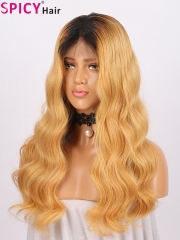 Spicyhair 100% human hair high quality ombre bodywave lace front wig