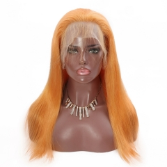 Spicyhair Top Quality Selling directly by factory Orange Straight  lace front wig