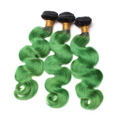 Spicyhair 100% Popular dark root green Bodywave human hair Bundles