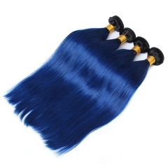 Spicyhair 100% Fashioal Looking 1b/blue Straight human hair Bundles