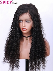 Spicyhair 300% density tangle free deep wave lace front wig