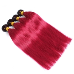 Spicyhair 100% Sexy looking 1b/burgundy Straight human hair Bundles