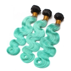 Spicyhair 100% 10A High Quality dark root sky blue Bodywave human hair Bundles