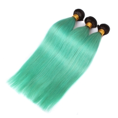Spicyhair 100% Nice looking top quality dark root sky blue Straight human hair Bundles