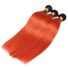 Spicyhair 100% Shining 1b/#350 Straight human hair Bundles