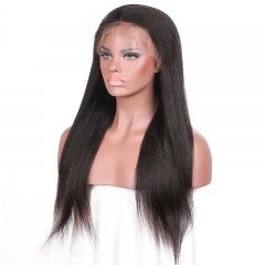 Spicyhair 100% Pre-plucked no shedding Natural Looking Yaki straight lace front wig