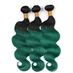 Spicyhair 100% Nice Looking dark root green Bodywave human hair Bundles