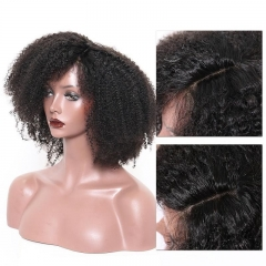 100% no shedding Afro Kinky Curly 360 lace wig