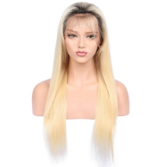 Spicyhair Fashional Looking dark root #613color straight lace front wig