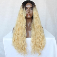 Spicyhair 150% density Good Quality Fashional Looking dark root #613color Water Wave full lace wig